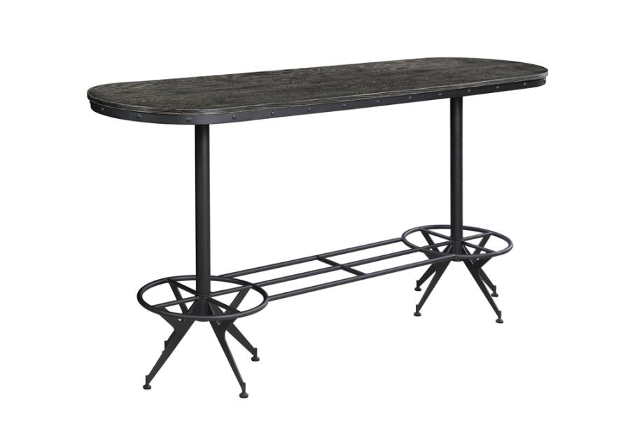 Oval counter Height Table