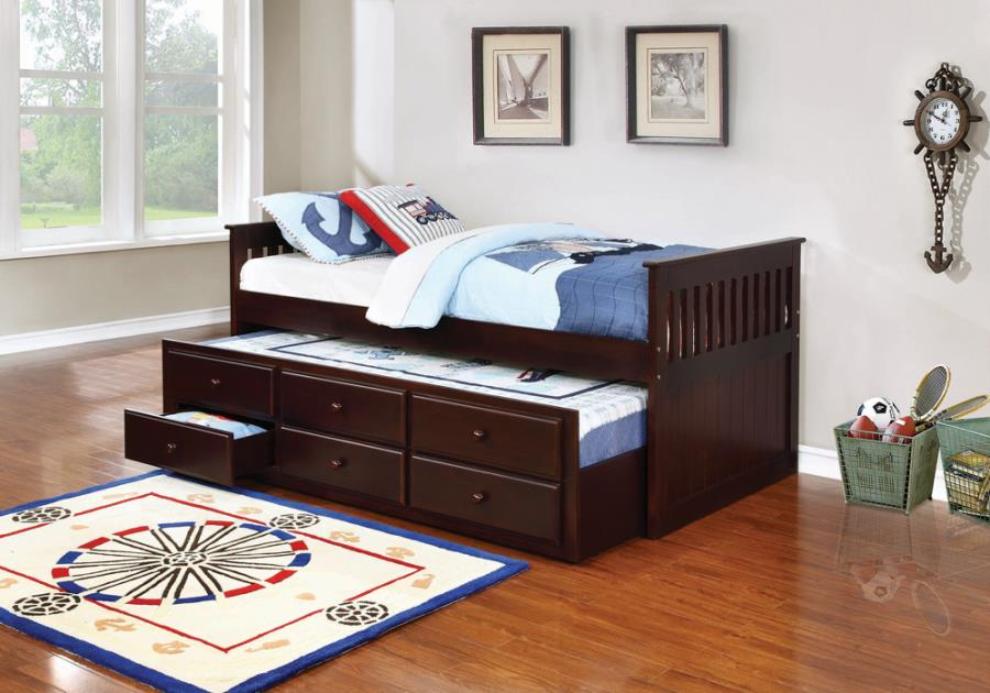Twin Captain's Daybed with Storage Trundle