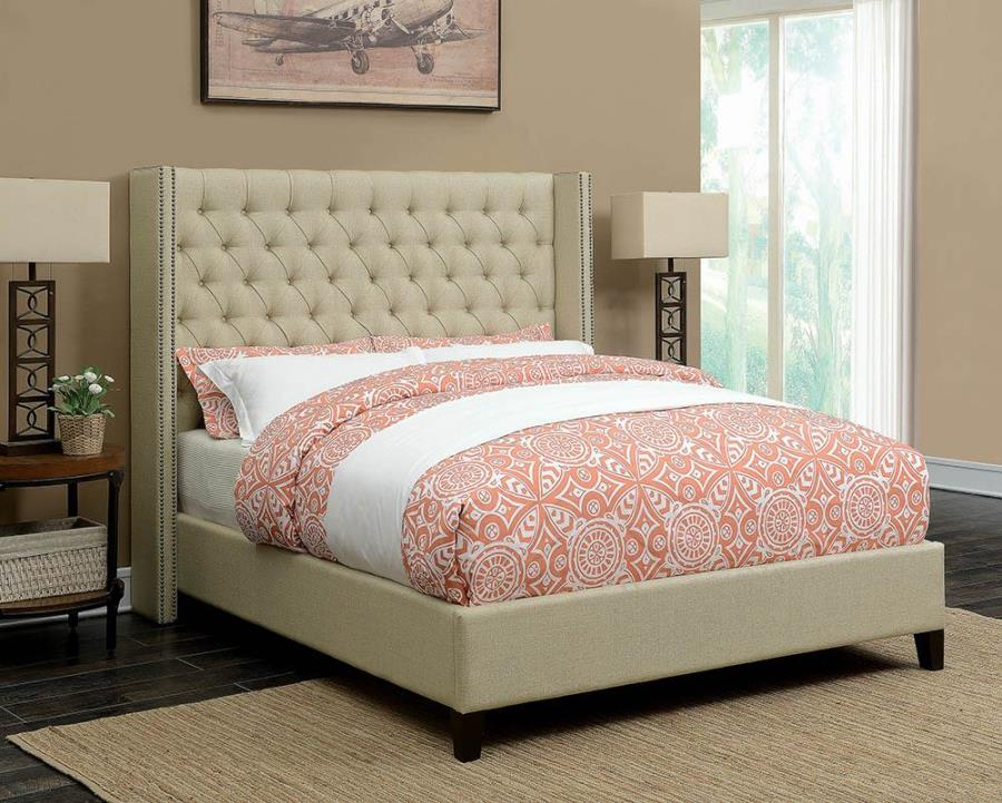 Bancroft Demi-wing Upholstered Queen Bed