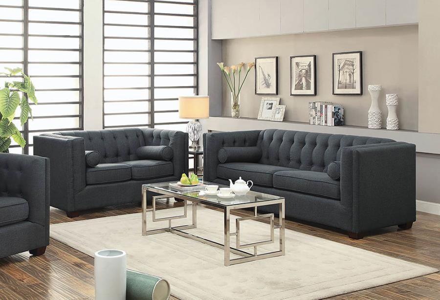 2PC Sofa + Loveseat