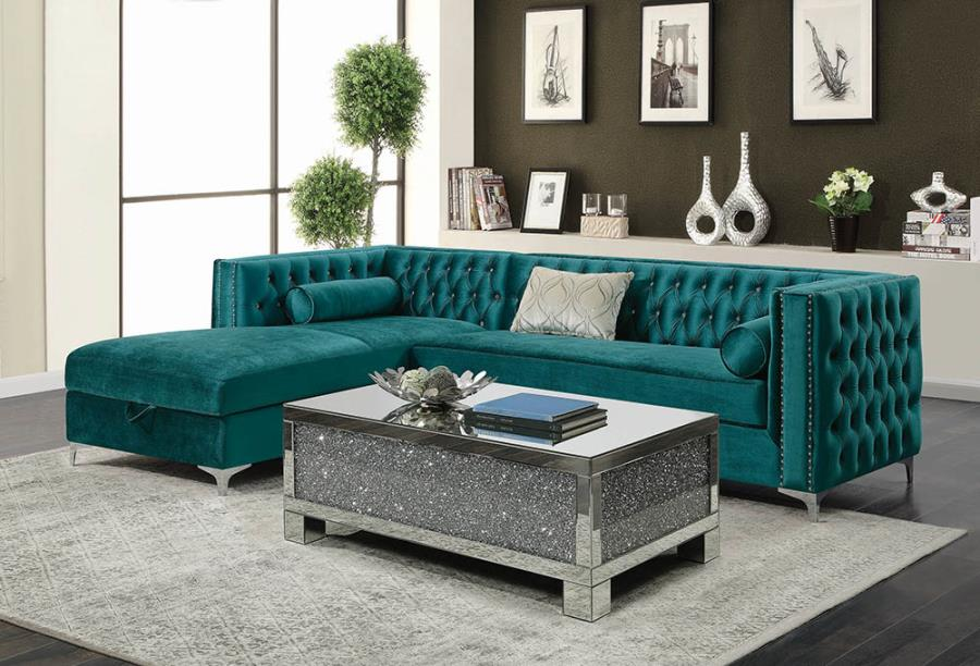 Button-tufted Upholstered Sectional