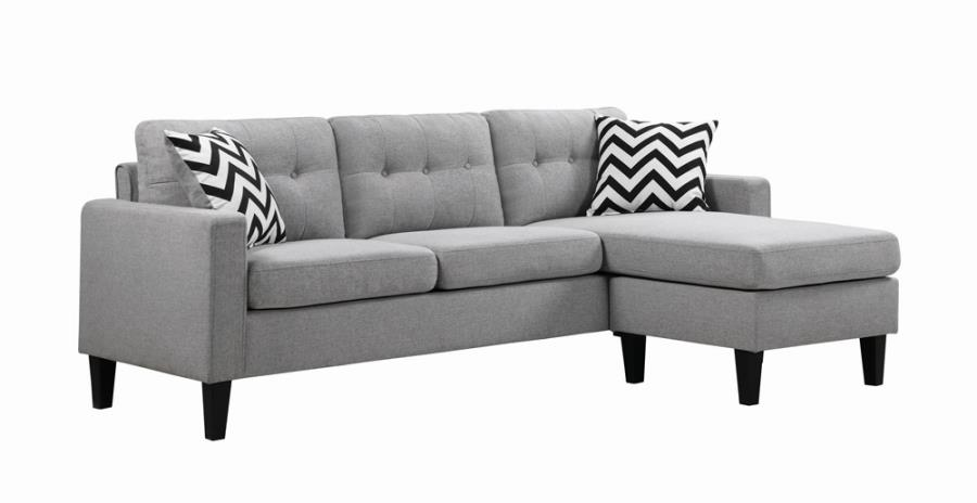 Metro Tufted Upholstered Reversible Sectional