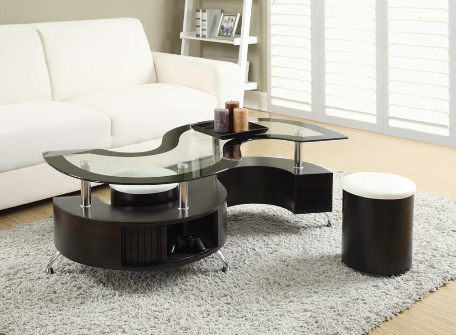 Coffee table + 2 Stools