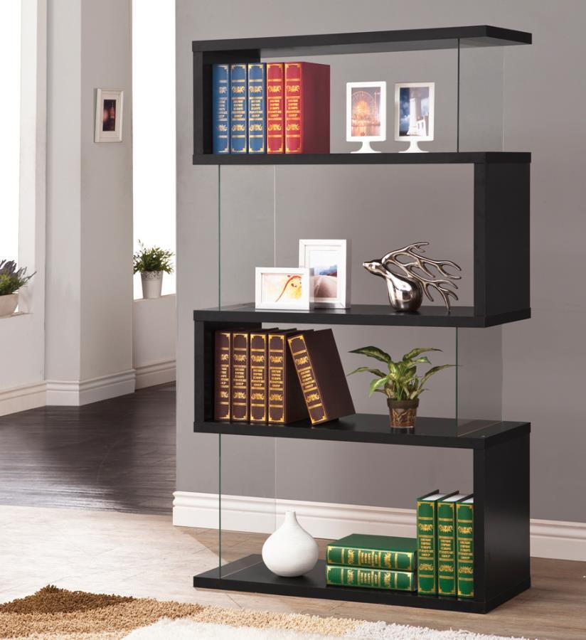 4-tier Bookcase Black