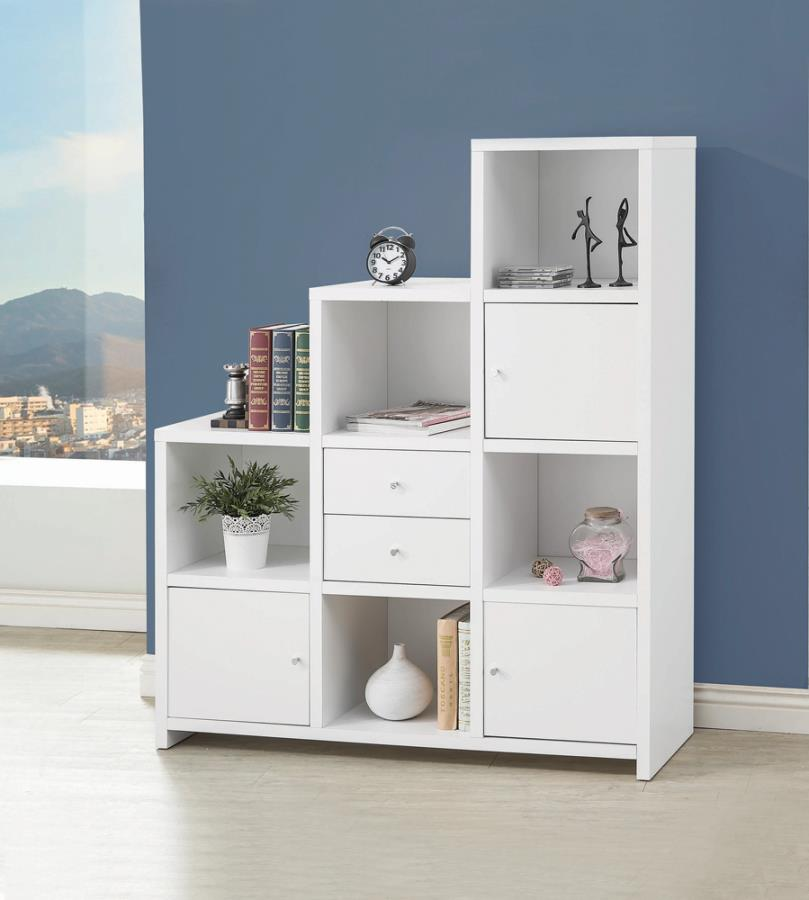 Bookcase with Cube Storage Compartments