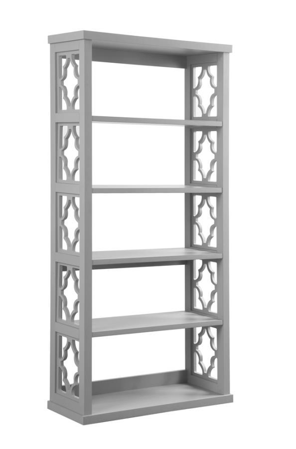 Trellis Pattern Side Panels Bookcase